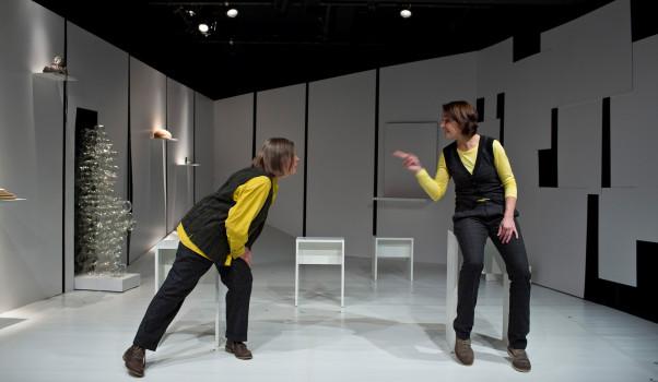 Der alte König in seinem Exil, Theater im Bauturm Köln, Christiane Bruhn und Chris Nonnast, ©MEYER ORIGINALS